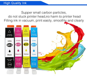 befon Compatible 655 Ink Cartridge Replacement for HP 655 HP655 for deskjet 3525 5525 4615 4625 4525 6520 6525 6625 Printer