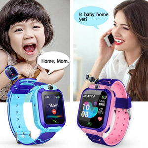 Children Smart Watch Camera Lighting Touch Screen SOS Call Touch Screen LBS Tracking Location Finder Kids Baby Smart Watch