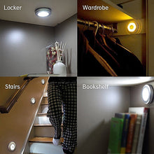 Load image into Gallery viewer, Wall Motion Sensor Led Night Light Emergency Detector Battery Closet cabinet stairs mini Lamp Home Light