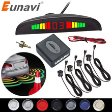 Load image into Gallery viewer, Eunavi 1set Auto Parktronic Led Parking Sensor Kit Display 4 Sensors For All Cars Reverse Assistance Backup Radar Monitor System