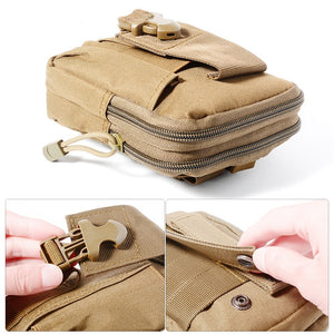Tactical Molle Phone Pouch Belt Waist Bag Military Waist Accessory Pack Utility EDC Gear Bag Gadget Divider Organizer Storager