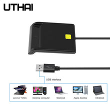 Load image into Gallery viewer, UTHAI X01 USB Smart Card Reader For Bank Card IC/ID EMV card Reader  High Quality for Windows 7 8 10 Linux OS USB-CCID ISO 7816