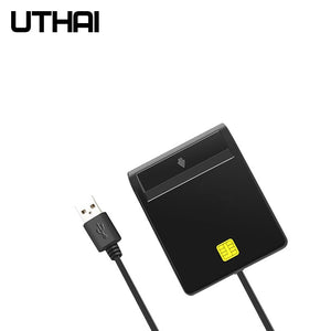 UTHAI X01 USB Smart Card Reader For Bank Card IC/ID EMV card Reader  High Quality for Windows 7 8 10 Linux OS USB-CCID ISO 7816
