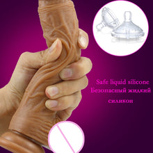 Load image into Gallery viewer, Skin feeling Realistic Dildo soft Liquid silicone Huge Big Penis With Suction Cup Sex Toys for Woman Strapon Female Masturbation