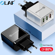 Load image into Gallery viewer, Olaf USB Charger quick charge 3.0 for iPhone X 8 7 iPad Fast Wall Charger for Samsung S9 Xiaomi mi 8 Huawei Mobile Phone Charger