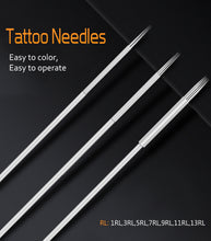Load image into Gallery viewer, Biomaser 5/20pcs Assorted Sterilized Tattoo Needles 1/3/5/7/9/11/13RL  agujas microblading naalden permanent makeup