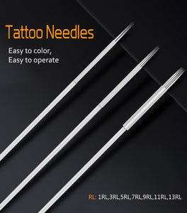 Biomaser 5/20pcs Assorted Sterilized Tattoo Needles 1/3/5/7/9/11/13RL  agujas microblading naalden permanent makeup