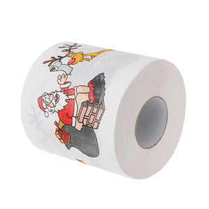 2 Layers Christmas Santa Claus Deer Toilet Roll Paper Tissue Living Room Decor Toilet Tissue Gift
