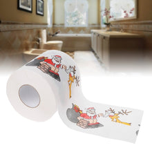 Load image into Gallery viewer, 2 Layers Christmas Santa Claus Deer Toilet Roll Paper Tissue Living Room Decor Toilet Tissue Gift