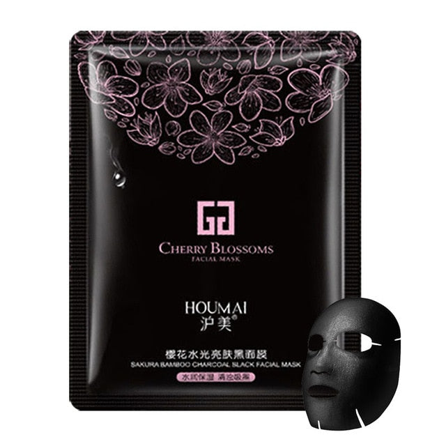 Water Light Facial Mask Seaweed & Cherry Blossom & Bamboo Charcoal Nourishing Moisturizing Brightening Anti Acne Face Mask