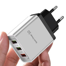 Load image into Gallery viewer, ROCK Quick Charging QC 3.0 Smart Fast 3 USB Wall Charger For Xiaomi Samsung Huawei Quick Charge Charging Adapter Mobile Phone