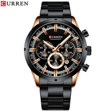 Load image into Gallery viewer, CURREN New Fashion Mens Watches with Stainless Steel Top Brand Luxury Sports Chronograph Quartz Watch Men Relogio Masculino