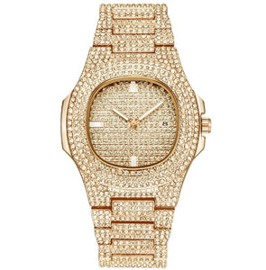 ICE-Out Bling Diamond Watch For Men Women Hip Hop iced out watch Men Quartz Watches Stainless Steel Band Business Wristwatch Man