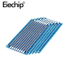 Load image into Gallery viewer, 10pcs Electronic PCB Board 3x7cm Diy Universal Printed Circuit Board 3*7cm Double Side Prototyping PCB For Arduino Copper Plate