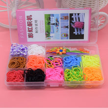 Load image into Gallery viewer, 600pcs Children Diy toys rubber bands bracelet loom girl hair band colorful gum make woven bracelets kids gift toy