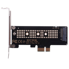 Load image into Gallery viewer, NVMe PCIe M.2 NGFF SSD to PCIe x1 adapter card PCIe x1 to M.2 card with bracket