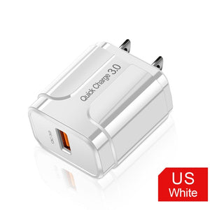 OLAF Quick Charge 3.0 USB Charger QC 3.0 Fast Charging EU US Plug Adapter Wall Mobile Phone Charger For iPhone Samsung Xiaomi