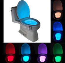 Load image into Gallery viewer, LED Night Light PIR Motion Sensor 8 Colors Automatic Change Toilet Light