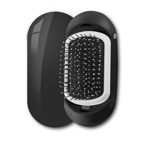 Ionic Electric Hairbrush, 2.0 Portable Electric Ionic Hairbrush Double Negative Ions Hair Brush Hair Styling Scalp Massage Comb