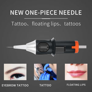 Tattoo Cartridges Needle 10pcs RL/M1/RM Professional Disposable Semi-Permanent Eyebrow Lip Makeup Needles For Tattoo Machine Pen