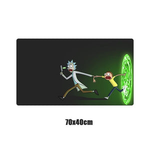 Custom Rick And Morty Anime Mouse Pad Gamer Large Locking Edge Soft Durable Gaming Mousepad Non-slip Rubber Computer  Desk Mat