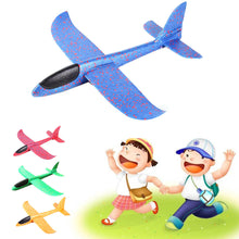 Load image into Gallery viewer, 36cm DIY flying plane Hand Throw Flying Glider airplanes Toys For Children Foam Aeroplane Model Party Outdoor Fillers Glider