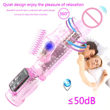 Load image into Gallery viewer, Man nuo Dual Motor Dildo Rabbit Vibrator 12 Speeds Vibration Rotation Sex Toy for Women G Spot Massager Clitoris Stimulator Sexo