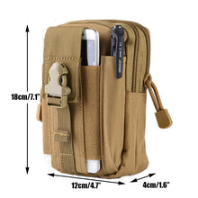 Load image into Gallery viewer, Tactical Molle Phone Pouch Belt Waist Bag Military Waist Accessory Pack Utility EDC Gear Bag Gadget Divider Organizer Storager