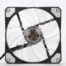 Load image into Gallery viewer, PC Computer 16dB Ultra Silent 12 LEDS 15 LEDs Case Fan Heatsink Cooler Cooling pc fan 120mm,12CM Fan,12VDC 3P IDE 4pin