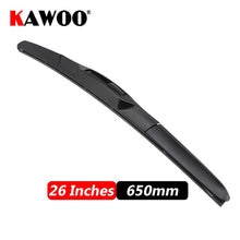 "Load image into Gallery viewer, Car Wiper Blade Universal U Hook Type 14""16""17""18""19""20""21""22""24""26"" Windscreen Windshield Rubber Hybrid Auto Wipers Accessories"