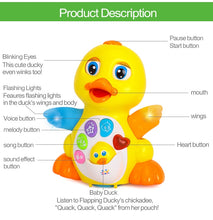 Load image into Gallery viewer, Dancing & Singing Duck Toy, Intellectual Musical and Learning Educational Toy Best Gift for 1 2 3 Year Old Boys and Girls Infant