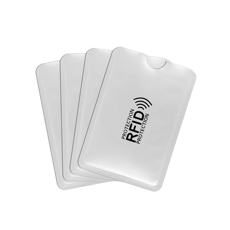 10pcs Anti Rfid Wallet Blocking Reader Lock Bank Card Holder Id Bank Card Case Protection Metal Credit NFC Holder Aluminium