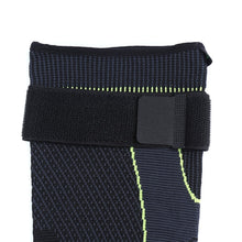 Load image into Gallery viewer, Hot elastic yellow-green stripe sports lengthen knee pad leg sleeve non-slip bandage compression leg warmer for men and women
