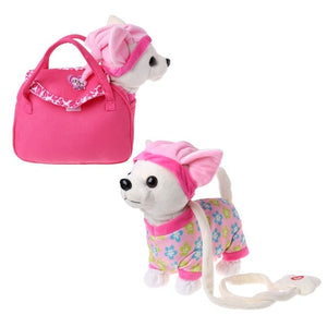 Electronic Pet Robot Dog Zipper Walking Singing Interactive Toy With Bag For Children Kids Birthday Gifts Y51E