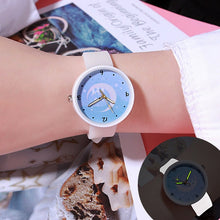 Load image into Gallery viewer, Watches Quartz Women Children Creative Luminous Silicone Brand Lovers Romantic Gifts Clock Relogio Feminino Top Sell