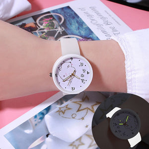 Watches Quartz Women Children Creative Luminous Silicone Brand Lovers Romantic Gifts Clock Relogio Feminino Top Sell
