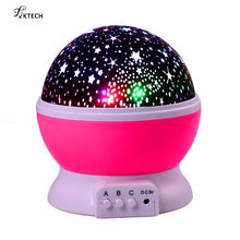 Load image into Gallery viewer, LED Rotating Night Light Projector Starry Sky Star Master Children Kids Sleep Romantic LED USB Projector Lamp Christmas Gifts