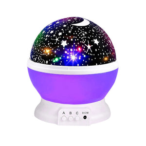 BRELONG 3 Colors LED Rotating Projector Starry Sky Night Lamp Romantic Projection Light Moon Sky Romantic Night Light Novelty