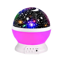Load image into Gallery viewer, BRELONG 3 Colors LED Rotating Projector Starry Sky Night Lamp Romantic Projection Light Moon Sky Romantic Night Light Novelty