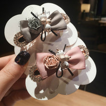 Load image into Gallery viewer, Elegant Bow  Metal Rhinestone Hair Clip Women Clips Barrettes Crystal Hairgrips Waterdrop Hairpins Hair Accessories Snap Clips