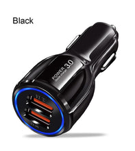 Load image into Gallery viewer, Olaf Car USB Charger Quick Charge 3.0 2.0 Mobile Phone Charger 2 Port USB Fast Car Charger for iPhone Samsung Tablet Car-Charger