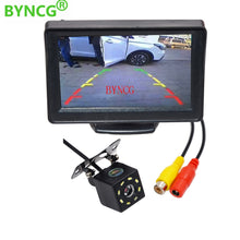 "Load image into Gallery viewer, Car Rear View Camera Wide Degree 4.3"" TFT LCD Color Display Monitor + Waterproof Night Vision Reversing Backup 2In1 Parking Reve"