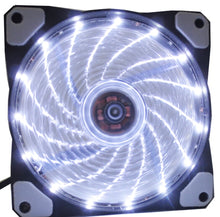 Load image into Gallery viewer, 8 models 120mm PC Computer 16dB Ultra Silent 15 LEDs or 33leds Case Fan Heatsink Cooler Cooling pc fan 12CM Fan 12V 3P IDE 4pin