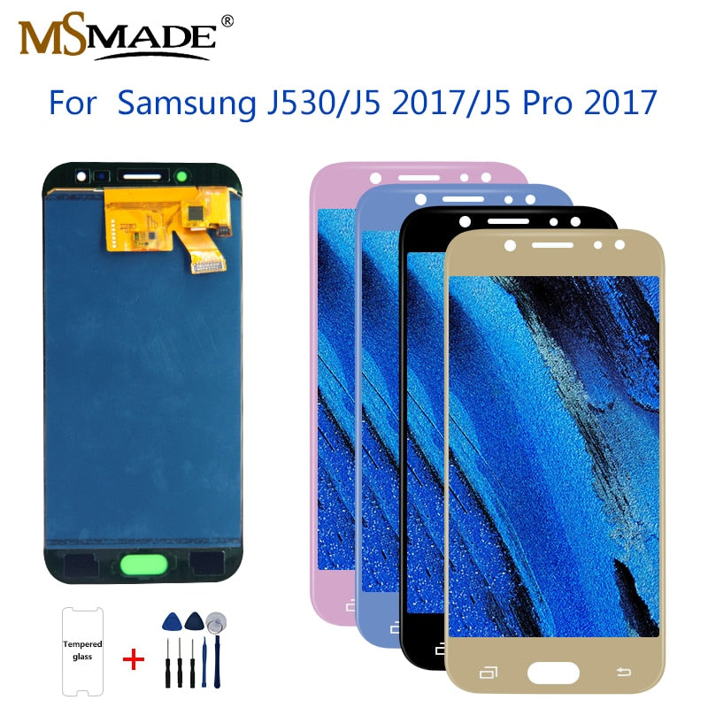 J530 Display For Samsung J5 2017 Display Touch Screen Digitizer J5 Pro J530M J530F SM-J530F LCD Touch Screen Digitizer Parts