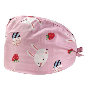 Cotton operating room hat printing medical surgical hat sweat-absorbent pet hospital doctor work hats dental clinic nursing caps