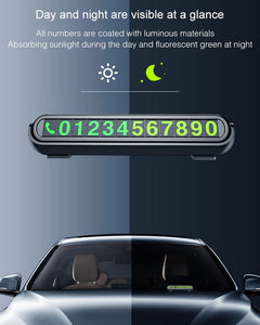 2019 New Luminous Car Temporary Parking Card Sticker Car Air Freshener Auto Phone Number Card Plate Car Aromatherapy Accessories