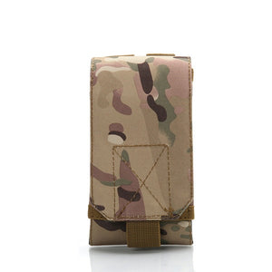 New Outdoor Tactical Phone Bag MOLLE Army Camo Camouflage Bag Hook Loop Belt Pouch 1000D Nylon  Mobile Package