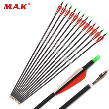 Load image into Gallery viewer, US 12/24/36 Pcs Mixed Carbon Arrow 28/30 Inches Spine 500 Diameter 7.8 mm for Compound/Recurve Bow and Arrow Archery Shooting