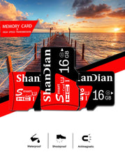 Load image into Gallery viewer, SHANDIAN Real capacity micro sd memory cards 8GB 16 GB 32 GB High speed 64GB class 10 micro sd card TF card for Phone/Tablet pc