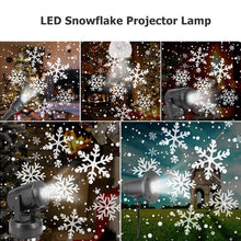 Load image into Gallery viewer, Christmas Snowflake LED Projector Lights Festival Holiday Home Party Decor Night Lamp Snow Projector Light Christmas Decoration